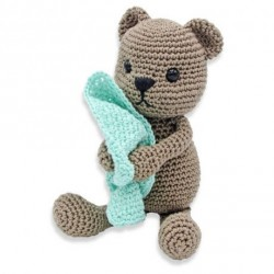 kit crochet- Tibbe l'ours assis