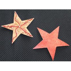 kit étoile paillettes rouge