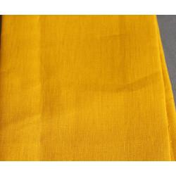 carré de lin 30*30 cm jaune