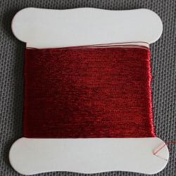 cartonnette fil metallique rouge