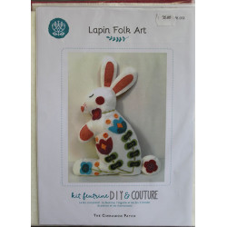 kit feutrine : lapin folk art