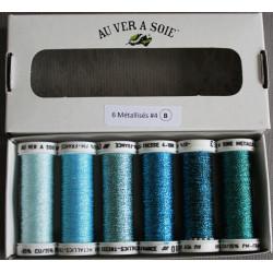 pack metallisé tressé 4 bleu ice