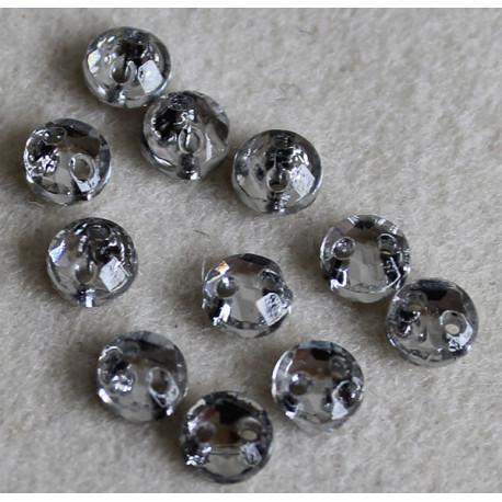 cabochon 5 mm cristal
