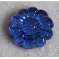 cabochon grande fleur bleu