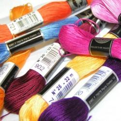 échevette de coton à broder couleur 32m
