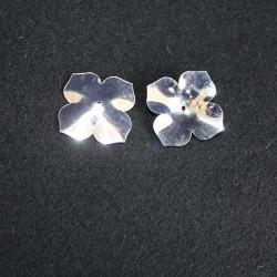 E5188 fleur argentée brillante