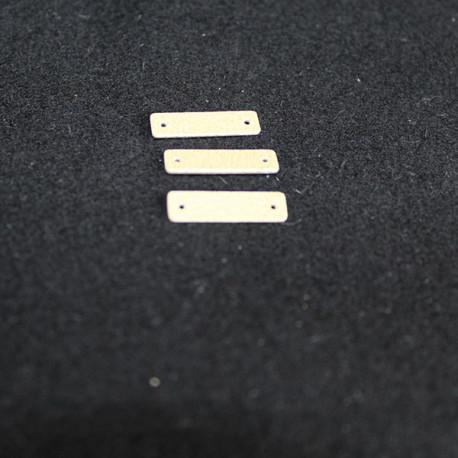 E7725 rectangle de cuir doré