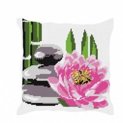 coussin fleur de lotus