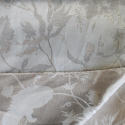 coupon de tissu gris et lurex argent