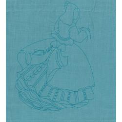 la danseuse turquoise