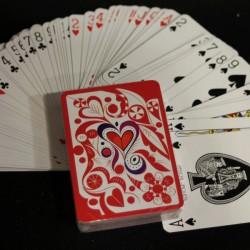 jeu de cartes rouge