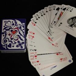 jeu de cartes bleu