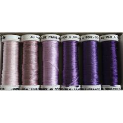 pack soie de paris violet